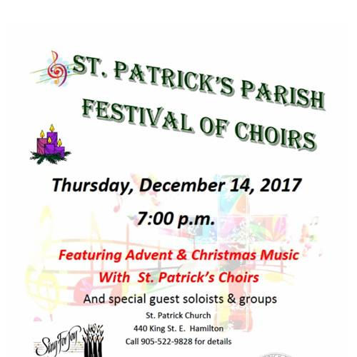 Choir at St. Patrick Church Festival of Choirs