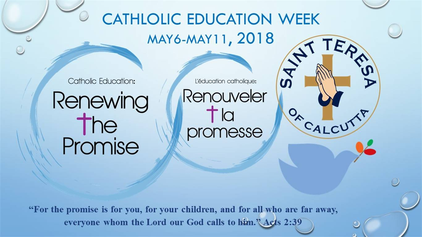 Catholic Education Week at Saint Teresa of Calcutta CES.