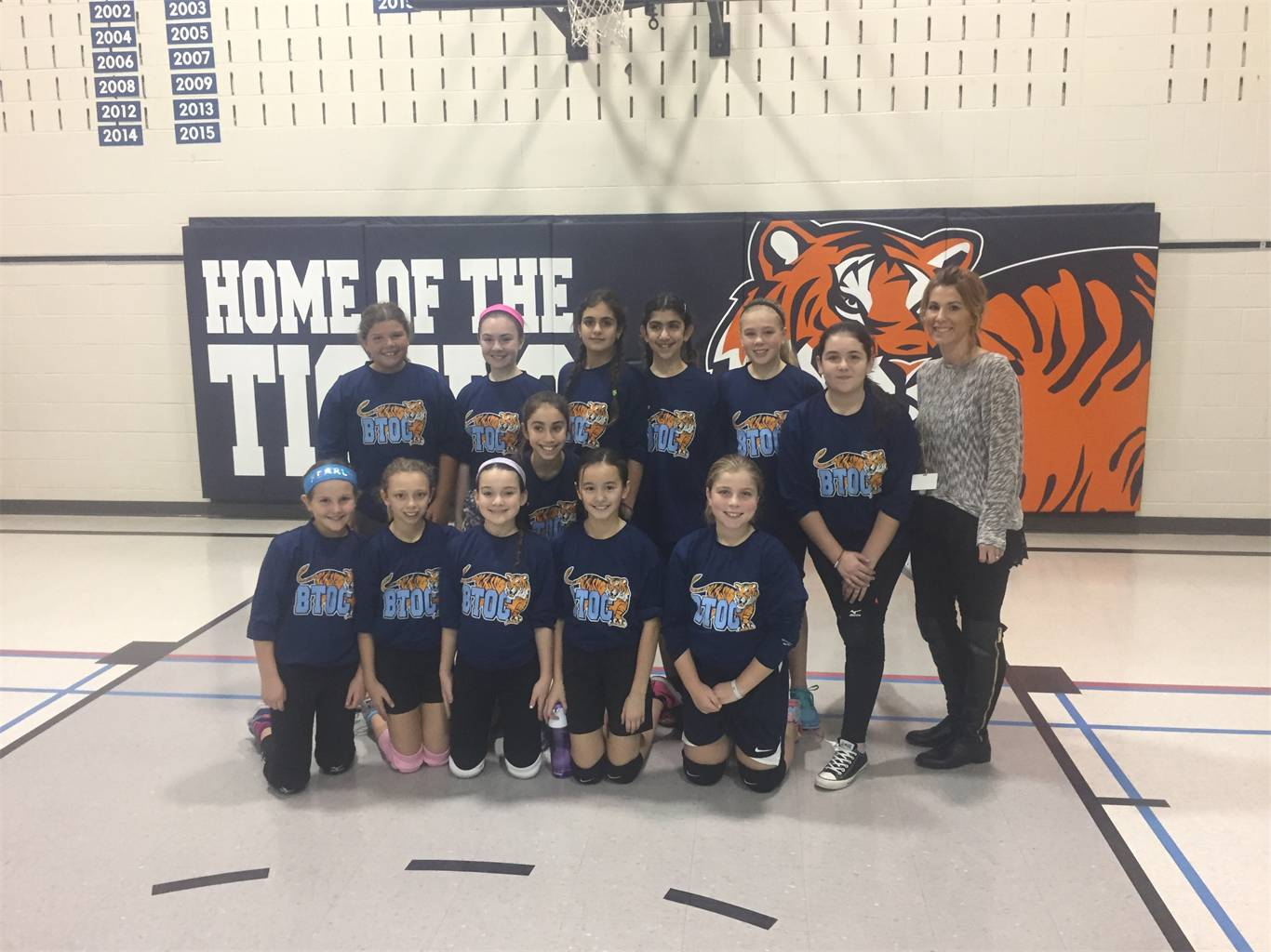 Jr. Girls Volleyball Team 2016-2017